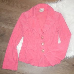 NANETTE LEPORE Pink French Terry Blazer Size Small